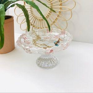 Vintage | Studio Silversmiths Footed Crystal Dish